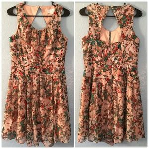 JESSICA SIMPSON Print Sz 6 Women's Casual Dress
